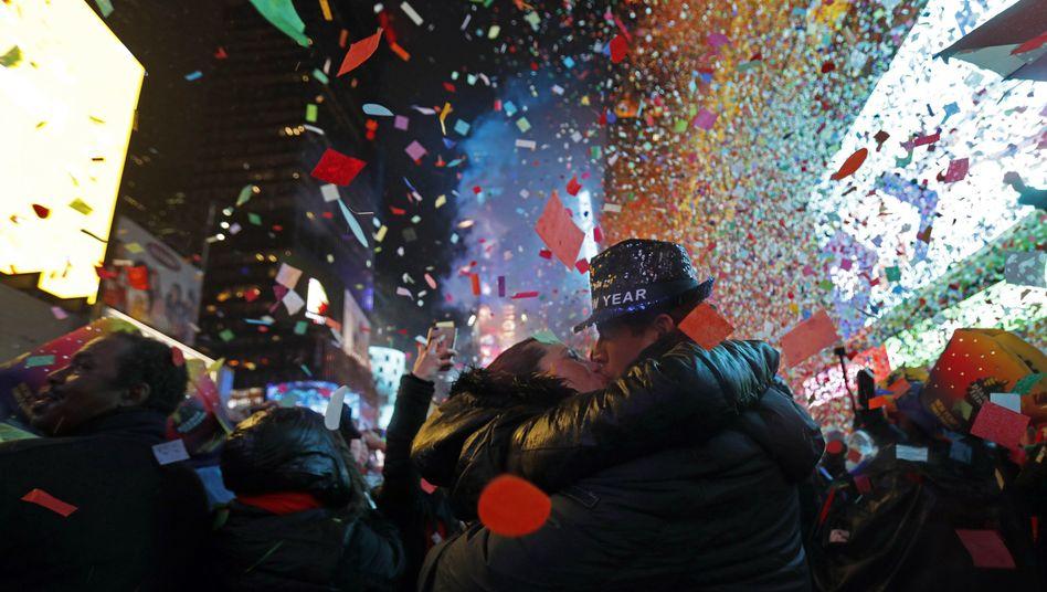 Neujahrsfeier am New Yorker Times Square