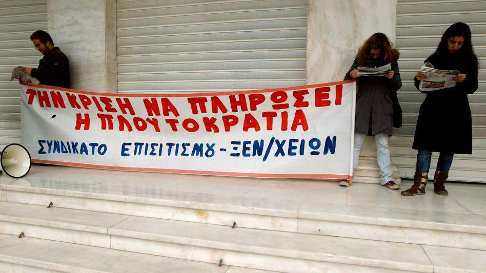 Streikende Griechen: Wut auf staatliches Schocksparprogramm