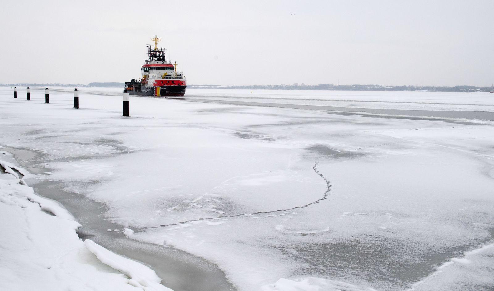 Eisbrecher Wetter an der Ostsee