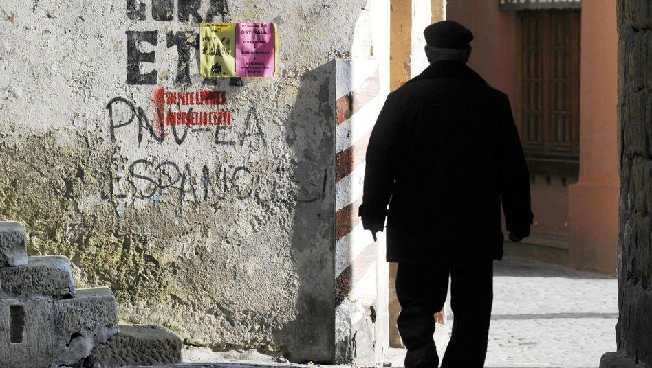 Eta-Graffito in nordspanischem Ort: Mehr als 850 Menschen starben durch den Terror
