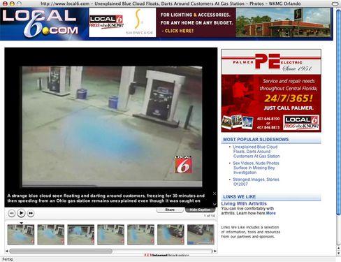 Screenshot von Local6.com: Geist, Engel oder Plastiktüte?