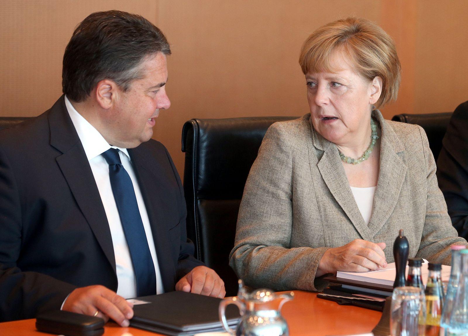 Sigmar Gabriel / Angela Merkel