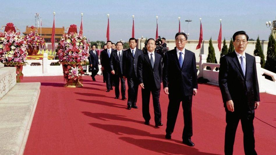KP-Führer am Tiananmen-Platz in Peking