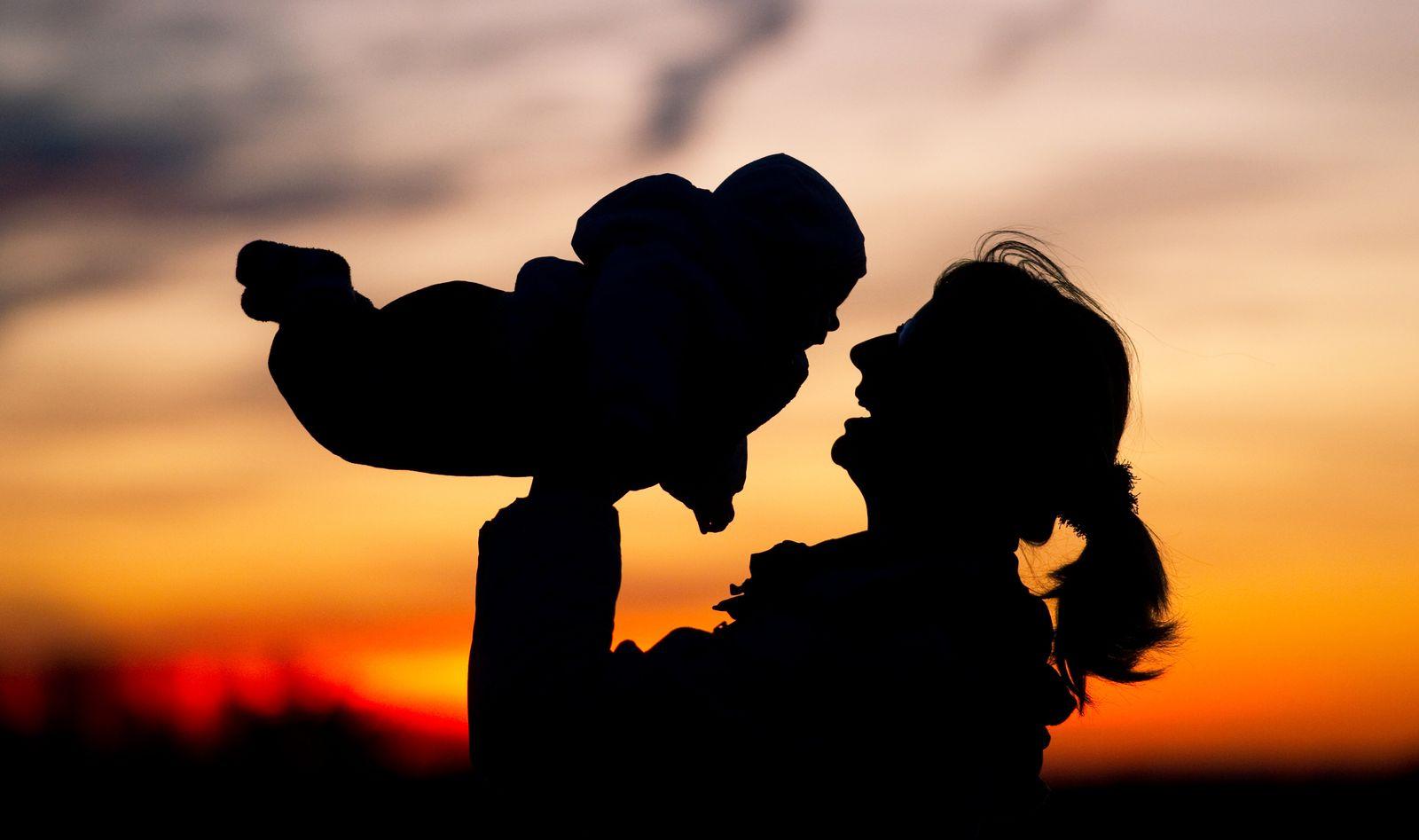 Mutter mit dem Kind