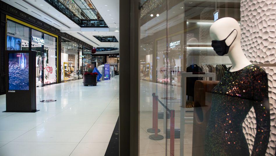 Leere Shoppingmall in Berlin: Der bis zum 10. Januar geltende Shutdown dürfte verlängert werden