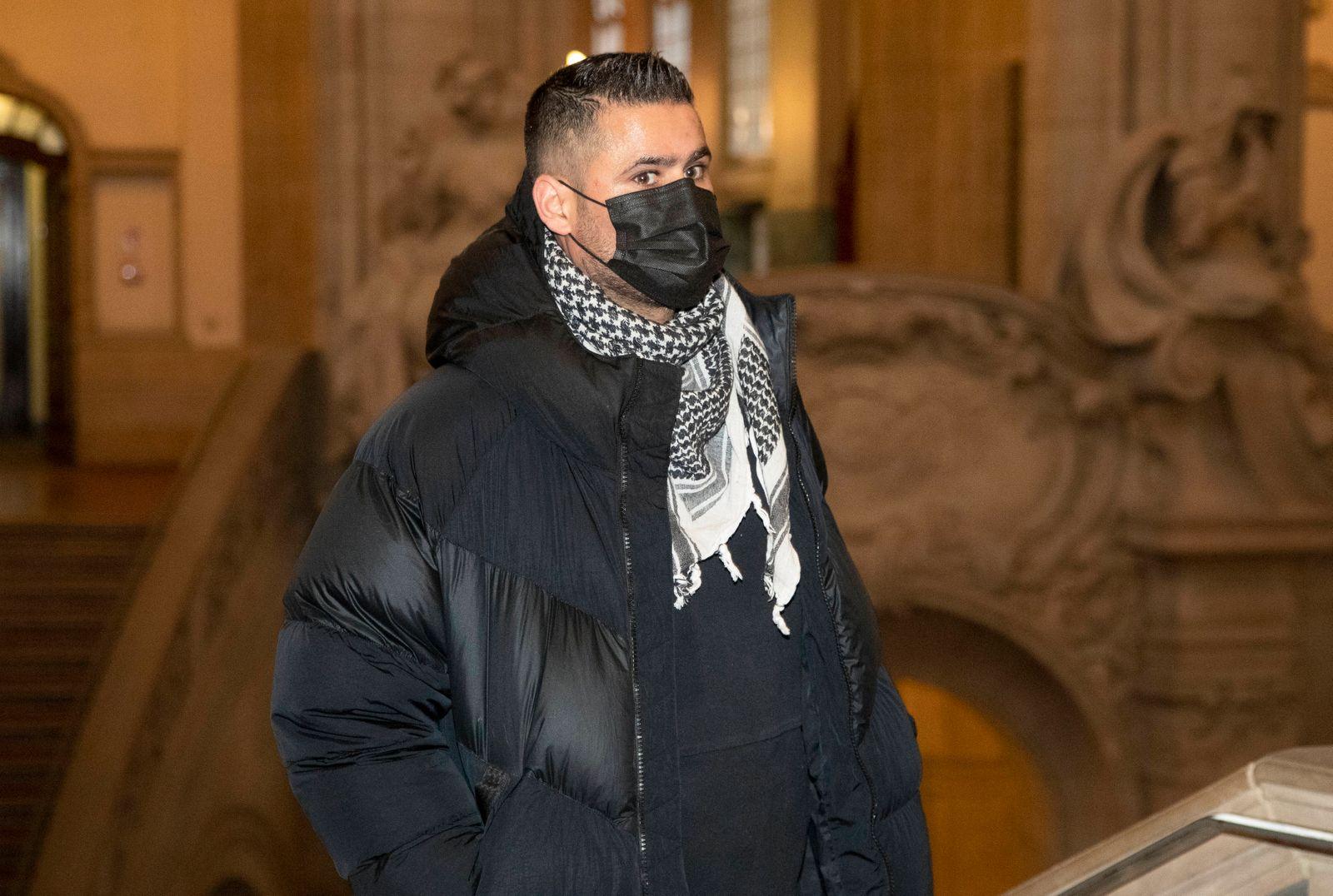 Bild-Motiv: der Angeklagte Yasser Abou-Chaker Berlin den 13.01.2021 09.30 Strafkammer 38, Saal 500 Delikt: versuchte sc