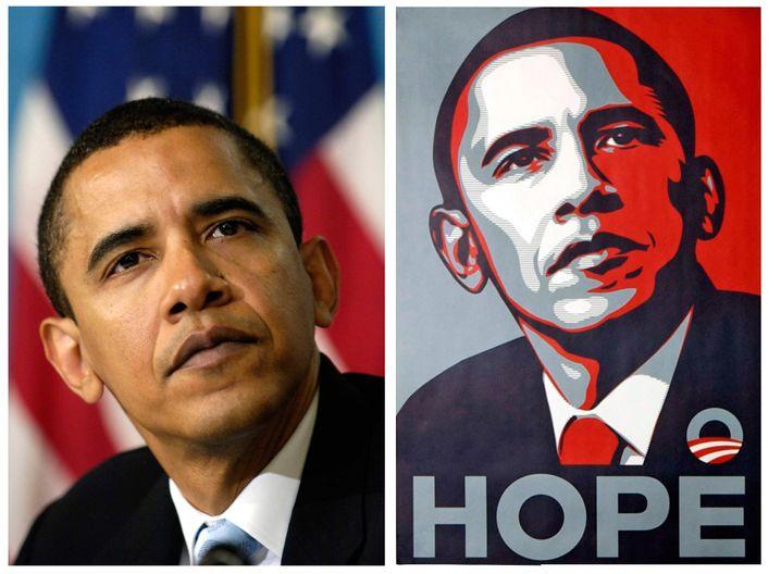 Obama-Wahlposter von 2008