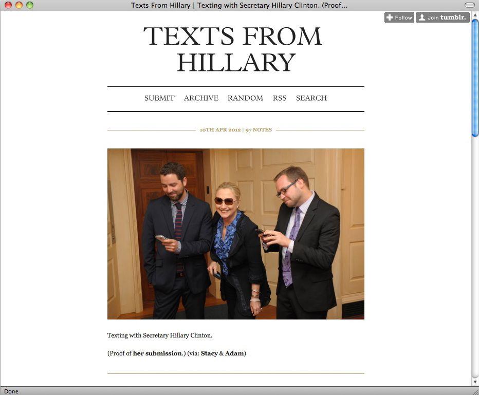 Screenshot Texts From Hillary