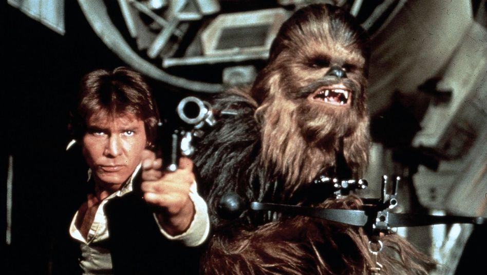 """Harrison Ford als Han Solo in """"Krieg der Sterne"""": """"Sollte er John Wayne sein?"""""""