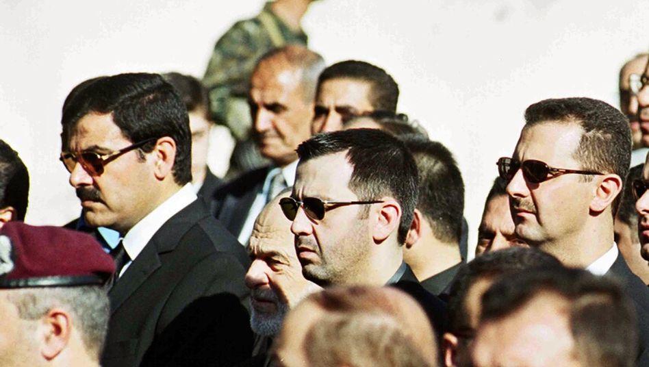 Kommandeur und sein Präsident: Maher und Baschar al-Assad (im Jahr 2000)