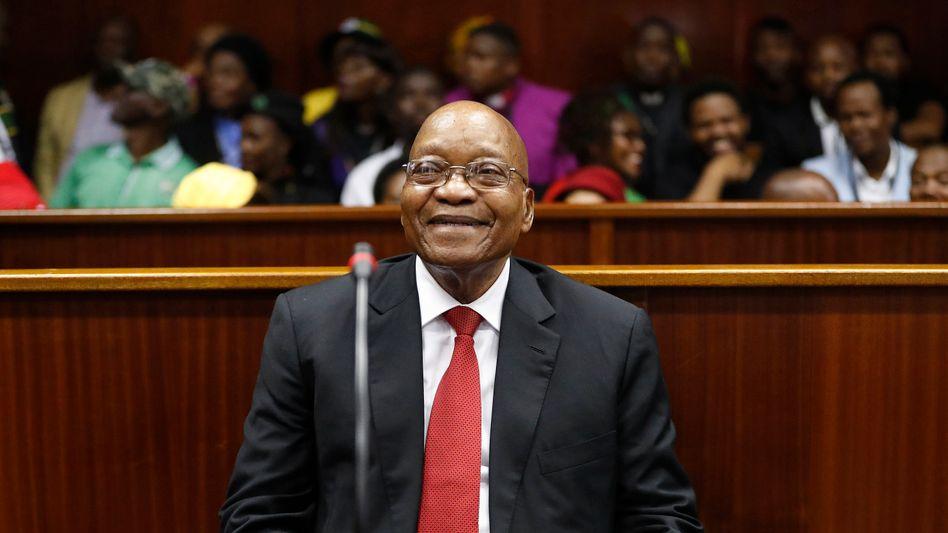 Jacob Zuma während einer Gerichtsverhandlung wegen Korruptionsvorwürfen bei einem Rüstungsgeschäft (im April 2018)