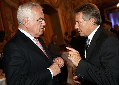 Hartz (links), Volkert: Beide bekränzt mit akademischem Lorbeer