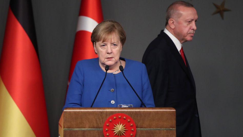 Kanzlerin Merkel, Erdogan