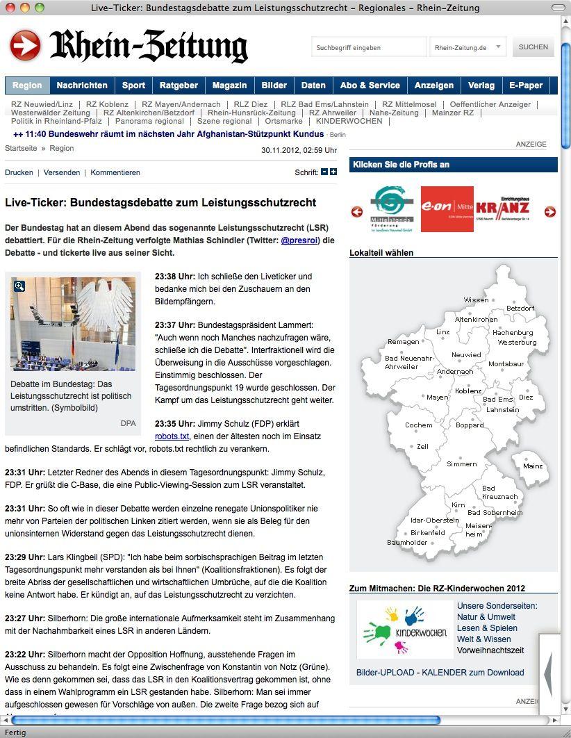 Screenshot/ Rhein-Zeitung