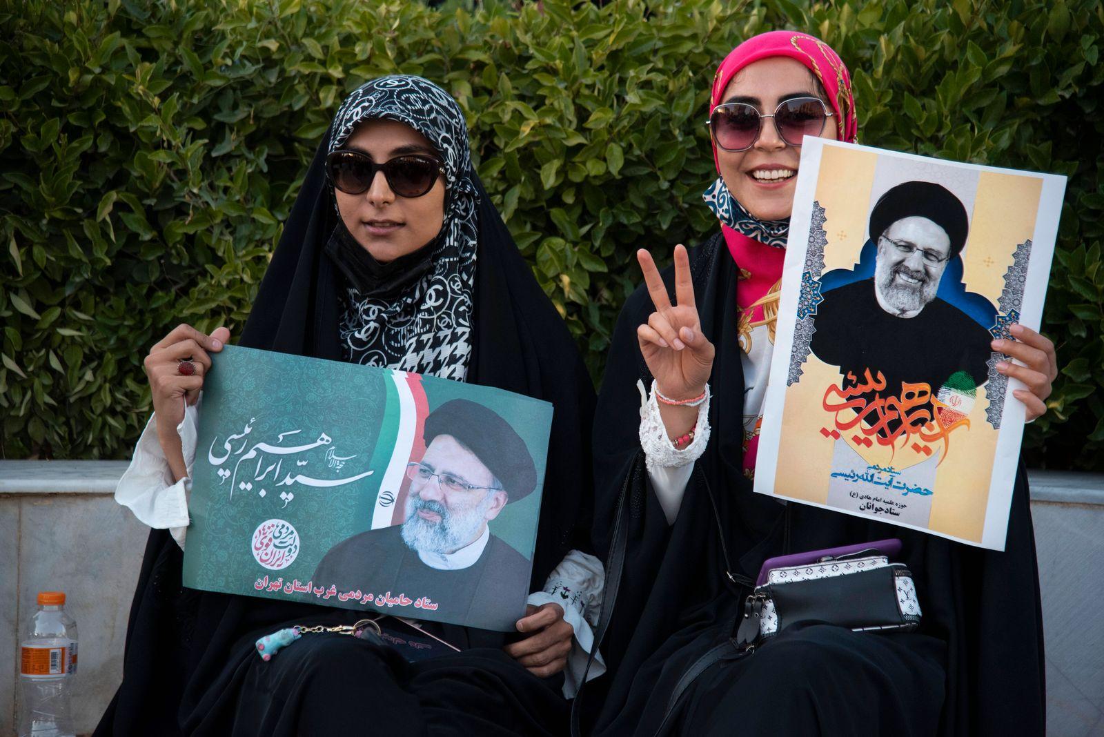 Präsidentschaftswahl im Iran, Wahlkampf für Kandidat Ebrahim Raisi in Teheran Iran: Elections Campaign in Tehran Suppor