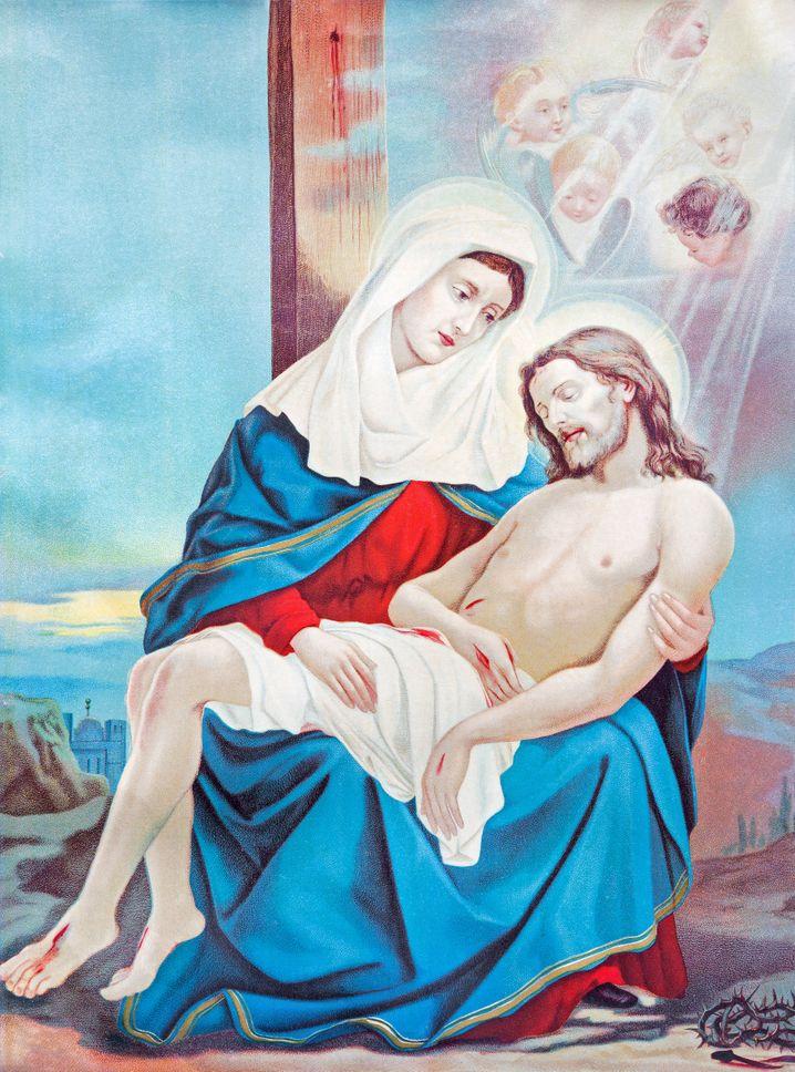 Pietà Illustration: mehr als eine religiöse Botschaft