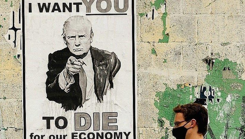 An anti-Trump poster in Washington