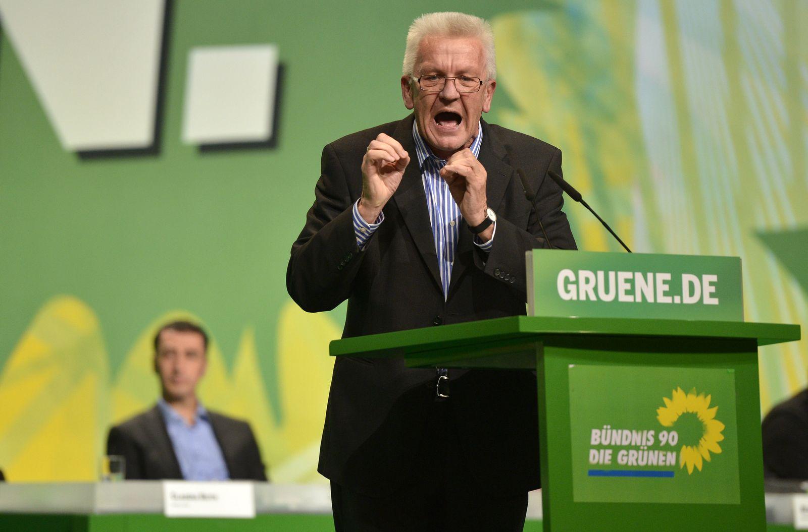 Bundesparteitag Grüne Kretschmann