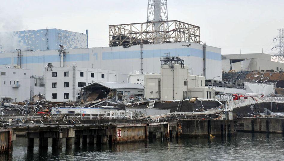 Havariertes AKW Fukushima (Archivbild): Tanks für 160.000 Tonnen strahlendes Wasser