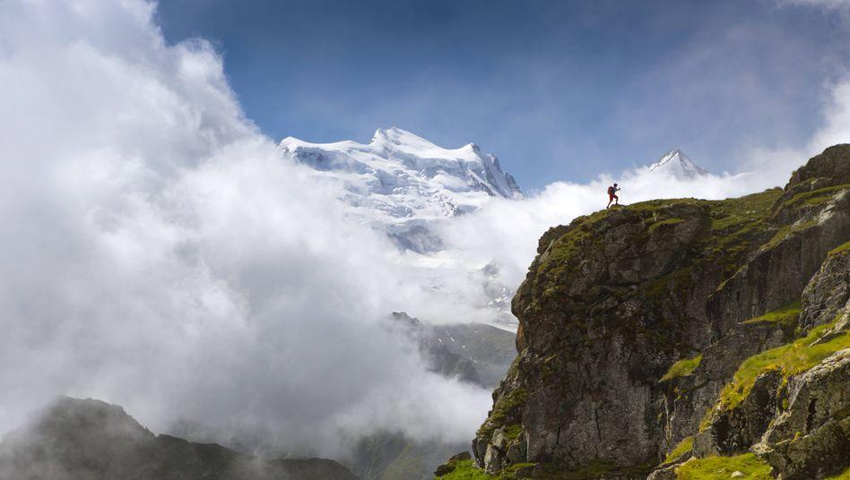 Bergregion in den Schweizer Alpen
