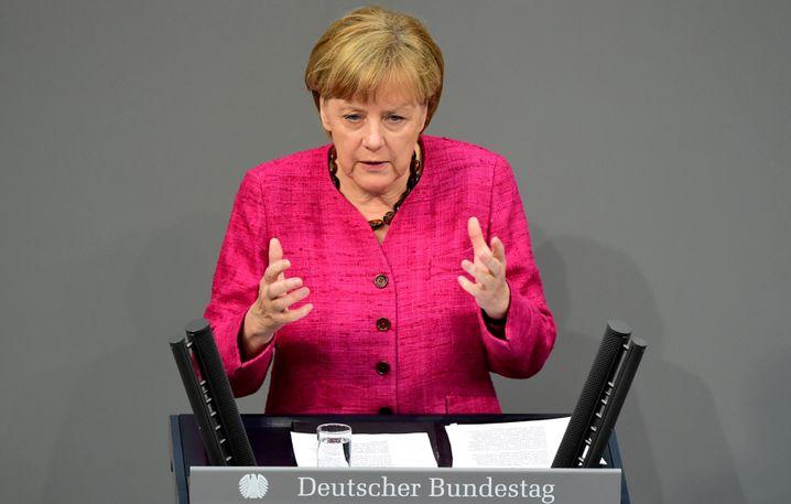 """Kanzlerin Merkel im Bundestag: """"Die Chance ergreifen"""""""
