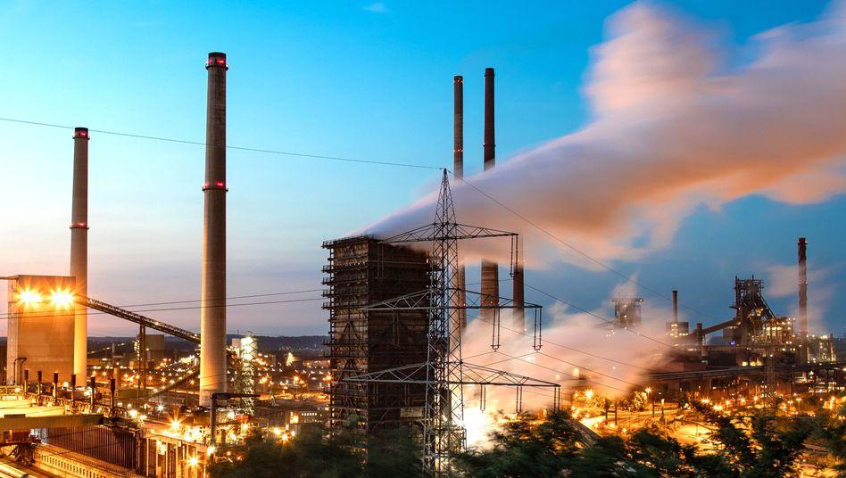 Das Stahlwerk von Thyssenkrupp in Schwelgern