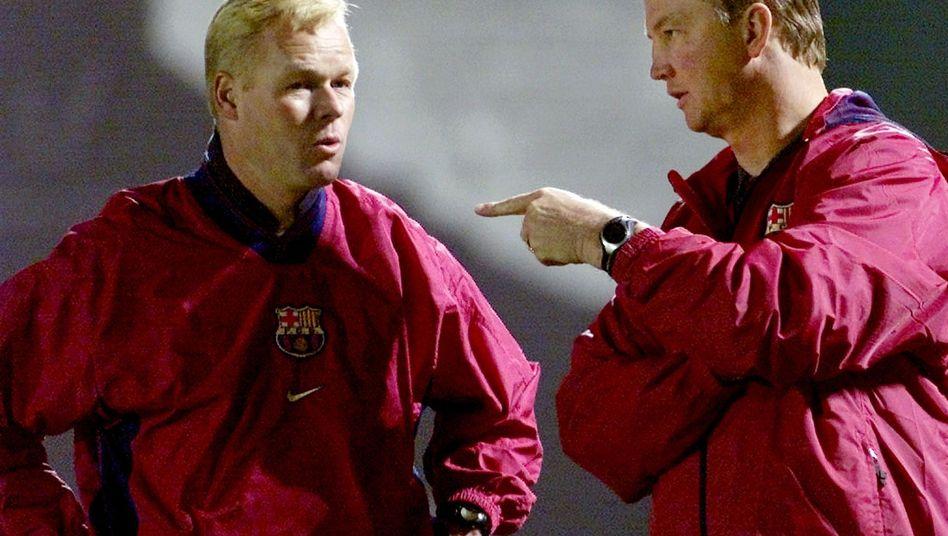 Trainer Koeman (l.), van Gaal (beim FC Barcelona): Duell in der Premier League