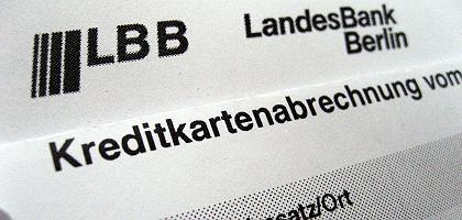 Abrechnung einer Kreditkarte der Landesbank Berlin: Betroffene Kunden per Brief benachrichtigt