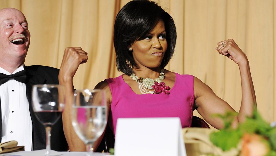"""US first lady Michelle Obama: """"a great role model for people"""""""