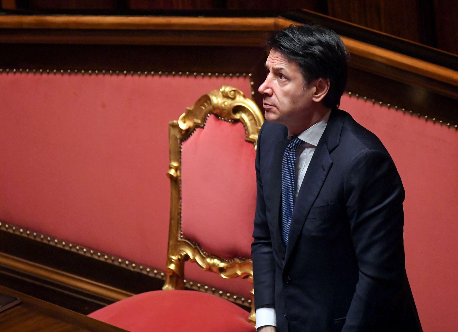 FILE PHOTO: Italian PM Conte addresses Senate on coronavirus disease (COVID-19), in Rome