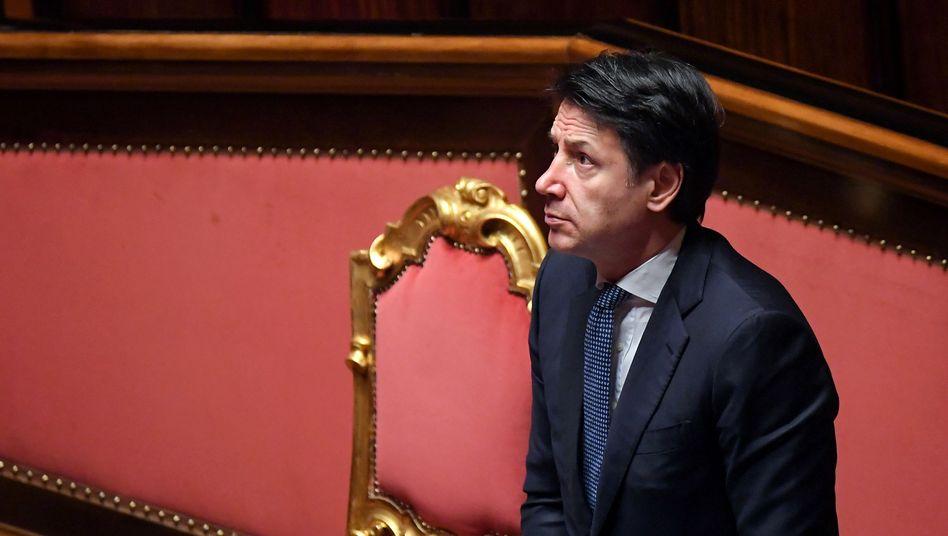 El primer ministro italiano Giuseppe Conte