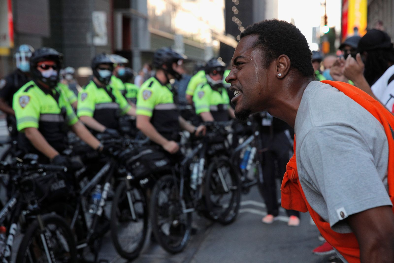 Protesters rally against the death in Minneapolis police custody of George Floyd