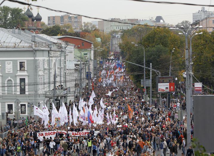 Proteste 2012 in Moskau: Demonstranten fordern Rücktritt von Putin
