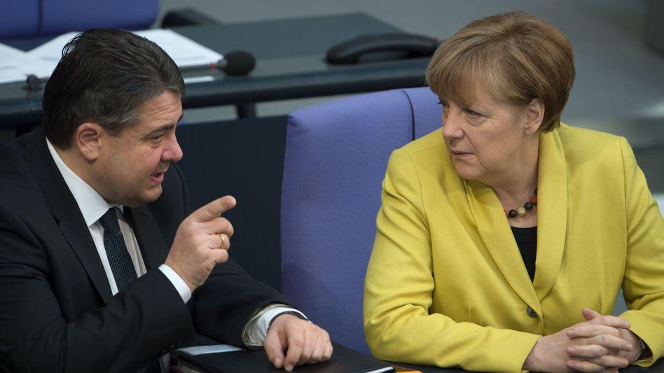 Kanzlerin Merkel, Vize Gabriel: Schluss mit der Harmonie
