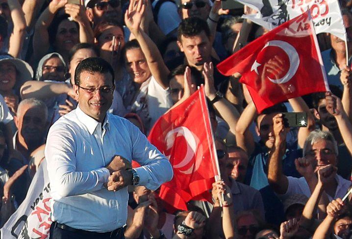"""Istanbuls Bürgermeister Ekrem Imamoglu (Archivbild): """"Jetzt geht es mir eigentlich gut. Mein Fieber ist nicht schlimm"""""""