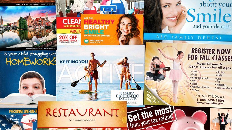 Sammlung von Werbemotiven: Online werden die Banner oft auf Basis der Daten in Werbeprofilen angezeigt