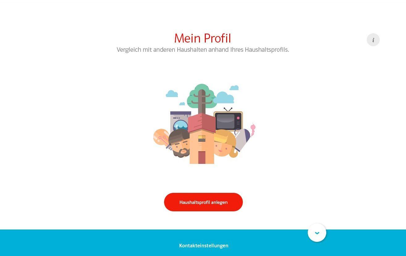 EINMALIGE VERWENDUNG EON SmartCheck / Mein Profil