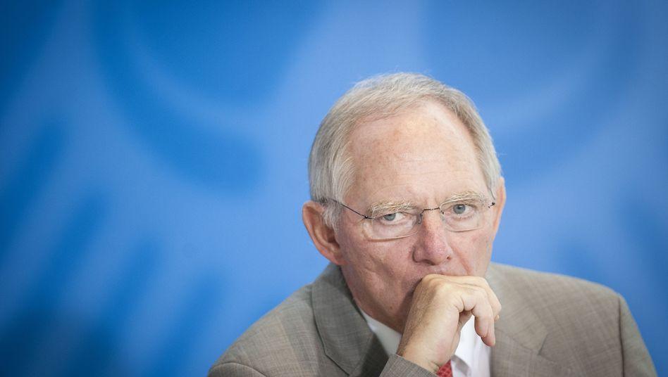 """Finanzminister Schäuble: """"Kritik unverantwortlich"""""""
