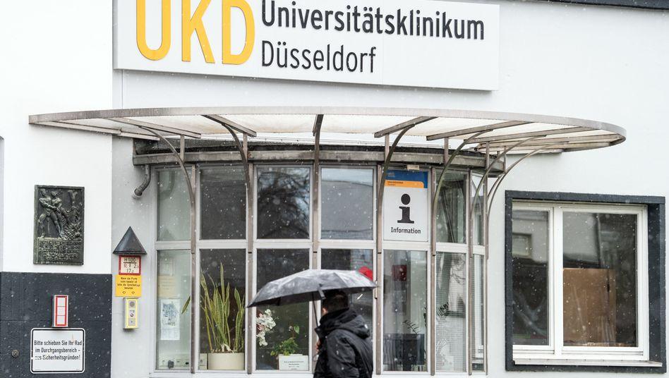 Eingangsbereich der Uniklinik Düsseldorf