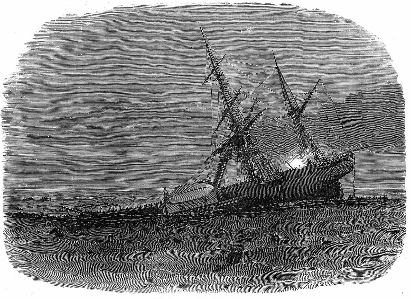 Loss of iron paddle steamer troop ship Birkenhead Loss of iron paddle steamer troop ship Birkenhead