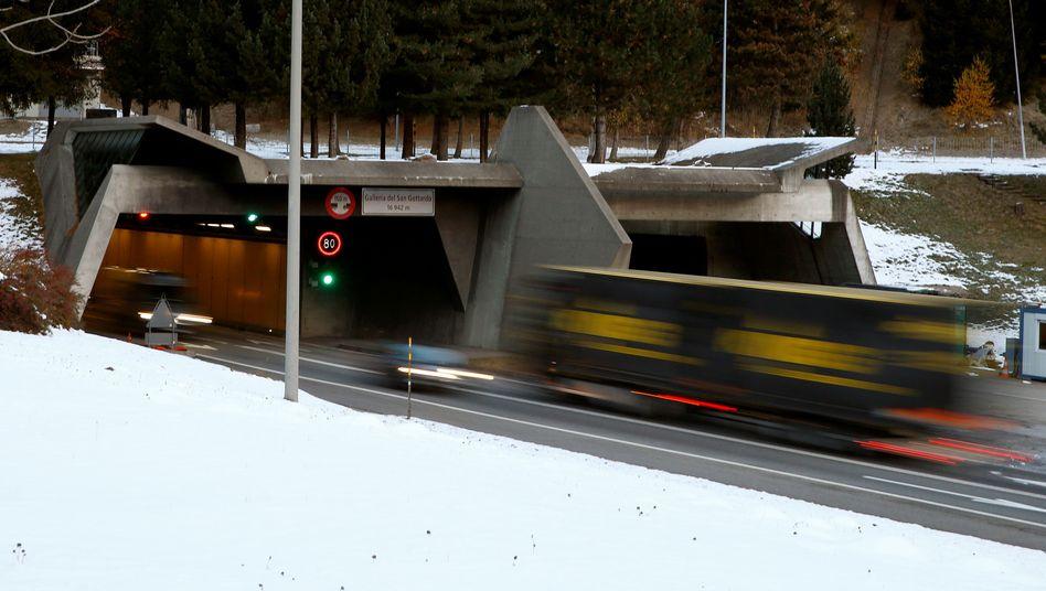Schweizer Gotthard-Tunnel