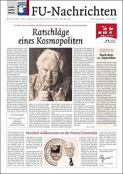 """Lesespaß nicht ausgeschlossen: die aktuelle Titelseite der """"FU-Nachrichten"""""""