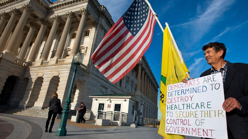 """Tea-Party-Protest vor dem Kapitol: """"Lemminge mit Sprengstoffwesten"""""""