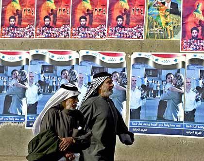Wahlwerbung in Basra: Es wäre besser für den Irak, die US-Army bliebe noch ein bisschen