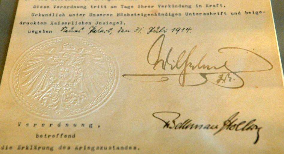 DAS ist eine Unterschrift: Die Signatur von Kaiser Wilhelm II.