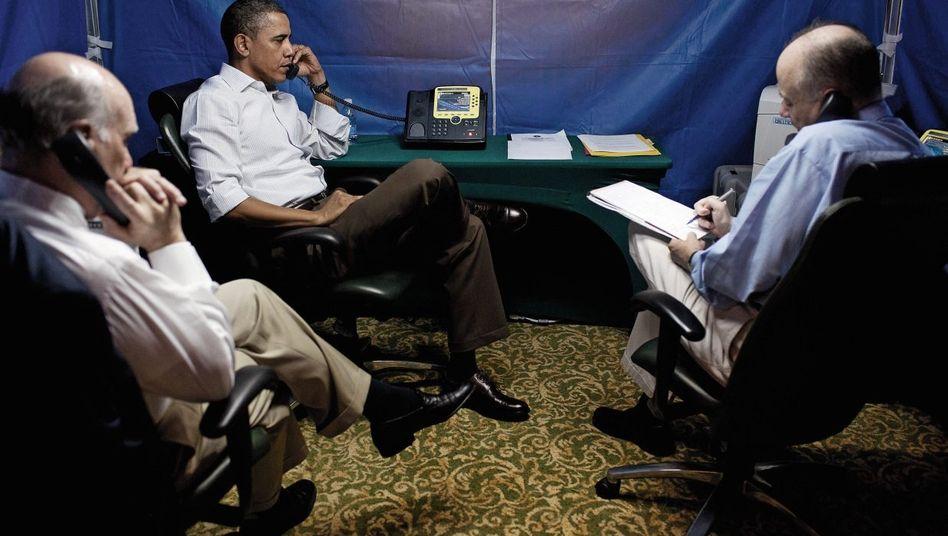 Präsident Obama mit Sicherheitsberatern 2011: »Seit Richard Nixon war es um die Pressefreiheit nicht so schlecht bestellt«