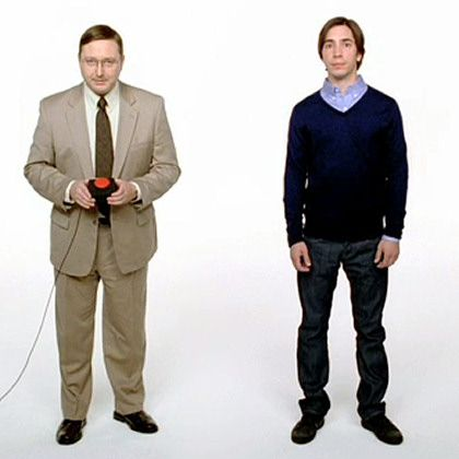 Prototypen PC (uncool, links) und Mac (cool, rechts): Das Image definiert die Wahrnehmung des Produkts