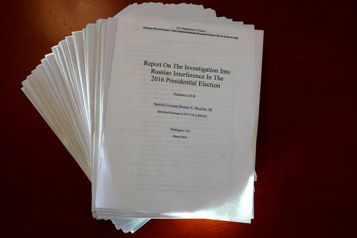 Neun Kapitel, 448 Seiten: Der Mueller-Bericht liest sich stellenweise wie ein Kriminalroman