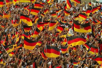 "German fans ecstatic as their team, ""World Champions of our hearts"" comes third."