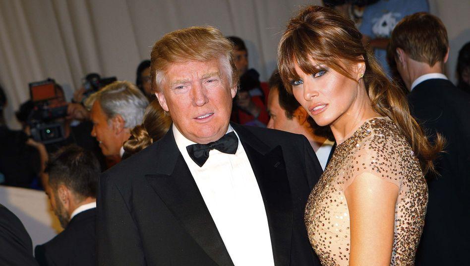 Trump und seine Frau Melania im Jahr 2011 bei einer Veranstaltung in New York City auf dem roten Teppich